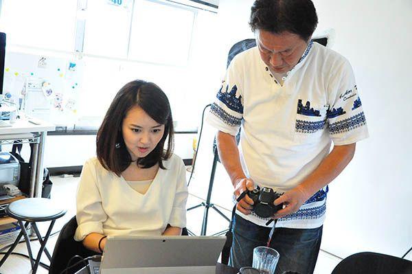 横浜にある一眼レフカメラ写真教室でのレッスンの様子