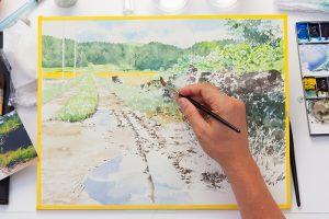 あべとしゆき先生による水彩画の描法の写真