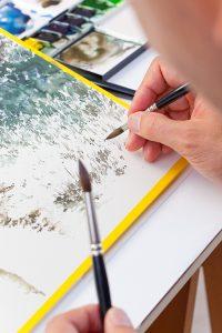 水彩画の描法写真