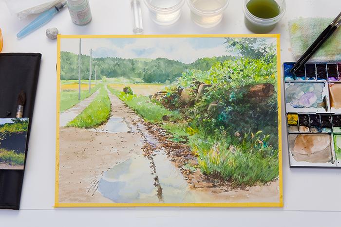 水彩画作品の写真