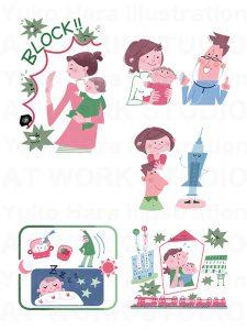 子供,教育イラスト|幼児の生活|冬の遊び