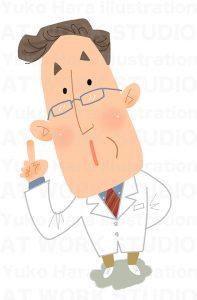 医療,健康イラスト|お医者さんの忠告