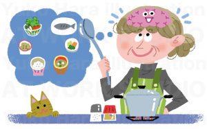 医療,健康イラスト|料理は頭の体操|認知症予防