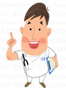 医療,健康イラスト|お医者さんのすすめ