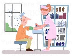 医療,健康イラスト|血圧管理はまず、血圧測定から
