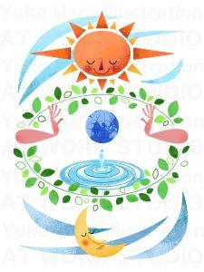 イメージイラスト|地球は水の惑星|エコロジーイメージ
