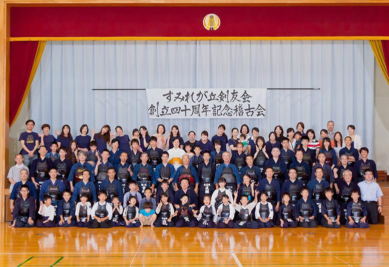 出張フォトグラファーが撮影した剣友会のメンバーの集合写真