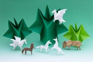 写真家 松岡伸一が撮影した折り紙作品