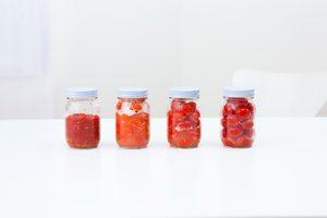 東京のキッチンスタジオで撮影した発酵トマトの写真