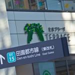 渋谷から20分のロケーションにあるたまプラーザ駅の写真