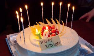 誕生日記念パーティーでのバースデーケーキ