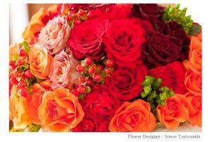 松岡伸一が撮影した赤を基調とした花の写真