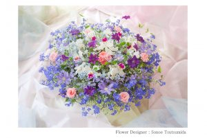 松岡伸一が撮影した青を基調としたフラワーフォト
