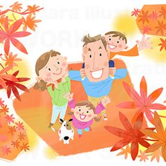 イラストレーターはらゆうこ 『家族のライフスタイル 秋』
