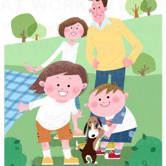 イラストレーションはらゆうこ『家族のピクニック_01』