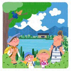 はらゆうこのイラスト作品『夏休みの家族_02』