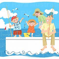 はらゆうこのイラスト作品『夏休みの家族_05』