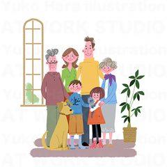 はらゆうこのイラスト作品『おじいちゃんおばあちゃんと一緒!_03』
