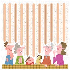 はらゆうこのイラスト作品『おじいちゃんおばあちゃんと一緒!_02』