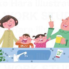 はらゆうこのイラスト作品『歯を磨きましょう!』