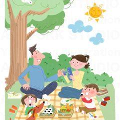 イラストレーションはらゆうこ『家族のピクニック_03』
