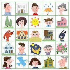 はらゆうこのイラスト作品『幸せ家族』
