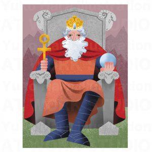 イラストレーターはらゆうこの描いたタロットカード『皇帝』