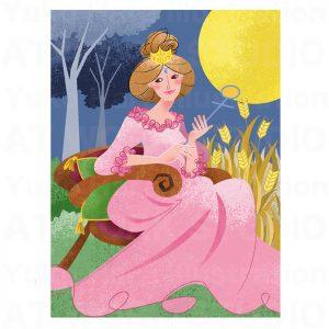 イラストレーターはらゆうこの描いたタロットカード『女帝』