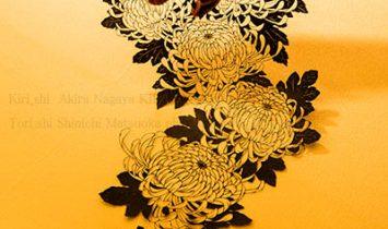 写真家松岡伸一が撮影した長屋明の切り絵作品