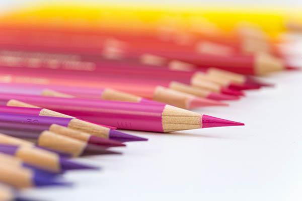 色鉛筆を撮った写真