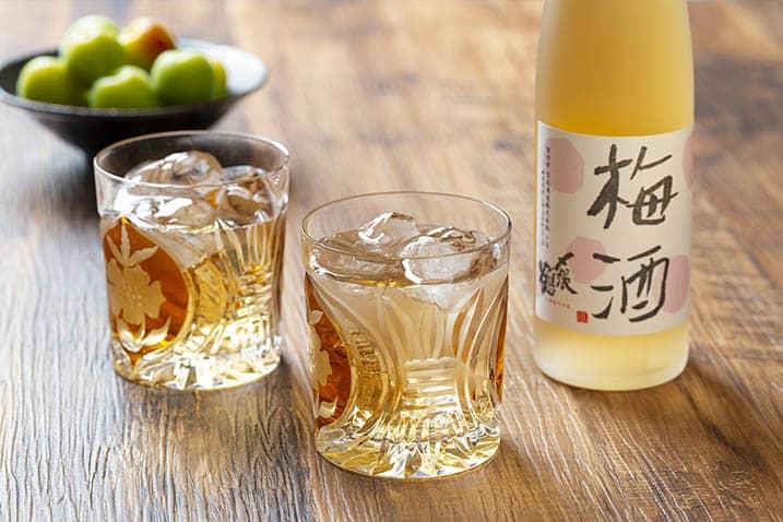 横浜市の商品写真スタジオで撮影された梅酒の写真